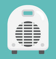 electric fan heater flat icon household appliance vector image