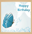 happy birthday card the postcard is decorated vector image