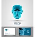 human logo design template head or robot icon vector image