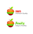 Icons of Fruits vector image