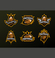 set of sports logos games in american football vector image