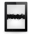 Tablet PC with grunge vector image