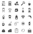 Coffee shop icons on white background vector image