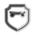 Skateboard extreme sport vector image