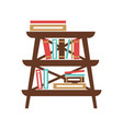 small stand with books vector image