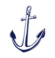 old sea anchor vector image