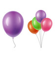 balloons transparency vector image