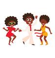 people men and women dancing at retro disco vector image