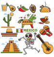 mexican lifestyle template in traditional vector image