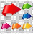 colorful arrow set vector image