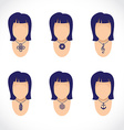 necklace on figurine vector image vector image
