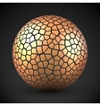Abstract cracked sphere vector image