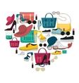 Colored Fashion Accessories Composition vector image