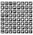 Big set of flat casino icons vector image