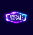 black friday sale banner on neon background vector image