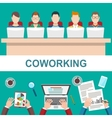 Business Meeting in office Coworker concept vector image