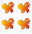 Four blank sales tags vector image