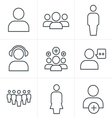 line icons 3x3 000041 vector image