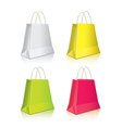 Shopping package colorful set vector image