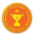 Winner badgechampions cup celebration greeting vector image