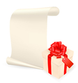 Elegant background with gift box and sheet of pape vector image vector image