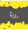 bananas on black vector image vector image