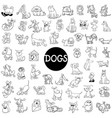 dog characters large set vector image vector image