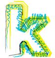 Sketch font Letter k vector image