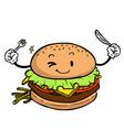 Burger character vector image