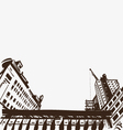 Hand drawn cityscape vector image vector image