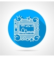 Round flat icon for photo frame vector image