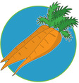 carrot graphic vector image vector image