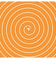Abstract Orange Spiral Pattern vector image