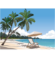 Relaxed Beach vector image