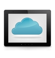 Tablet PC and cloud icon vector image vector image
