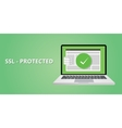 ssl certified protection vector image