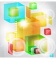 Abstract background of 3d cubes vector image