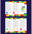 Brochure Tri-fold Layout Design Template colorful vector image