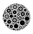 Cog wheels arranged in circle vector image