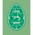 Design with Easter egg vector image