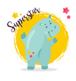 image of a funny superstar hippo vector image