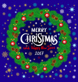 Merry Christmas And Happy New Year Vintage vector image