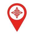 planet location pin isolated icon design vector image
