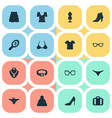 set of simple garments icons vector image