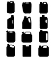 silhouettes of canisters vector image