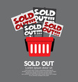 Sold Out Shopping Concept vector image