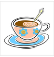 latte coffee Cup on a saucer vector image