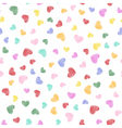 Hand drawn heart shapes pattern vector image