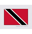 Flag of Trinidad and Tobago Aspect Ratio 2 to 3 vector image