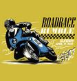 vintage motorcycle race vector image vector image